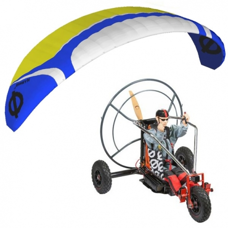RC paramotor kit ARTF Hybrid 5.2 / Trike XL / Pilot Tom