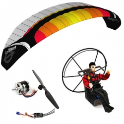 RC paramotor kit ARTF Power 2.7 / Backpack L / Pilot Lucas