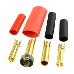 Jeti - Prises Or M/F - 4mm Anti-étincelles (1 paire)
