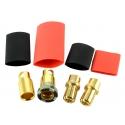 Jeti - Gold connectors M/F - 8mm Anti-spark (2 pairs)