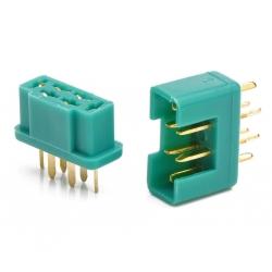 OPTronics - Paire de connecteurs MPX 6 broches - Amass