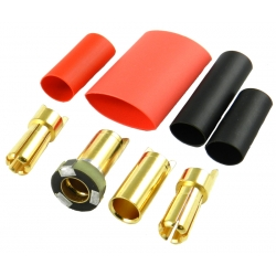 Jeti - Gold connectors M/F - 5.5mm Anti-spark (1 pair)