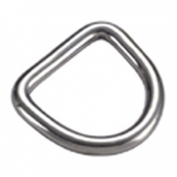 Stainless steel D-ring - 10mm (0.4in)